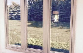 Custom Casement-Picture Window Combinations Allow Natural Light In.